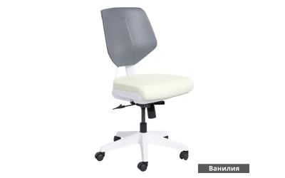 Работен офис стол Smart без подлакътници Еко кожа - Ванилия AS
