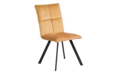 Тапициран трапезен стол Carmen 516 - жълт