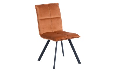 Тапициран трапезен стол Carmen 516 - оранжев