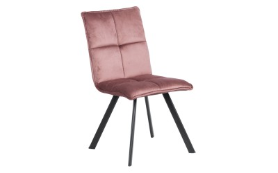 Тапициран трапезен стол Carmen 516 - пепелно розов