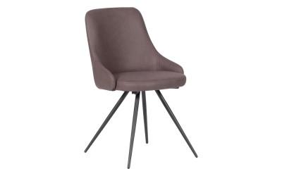 Тапициран трапезен стол NEWPORT - червено - кафяв SF 2
