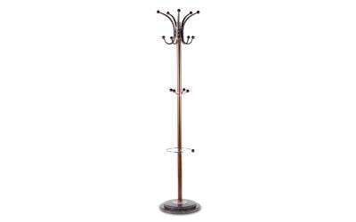 Стояща метална закачалка за дрехи CARMEN 138-1 - дървесен цвят