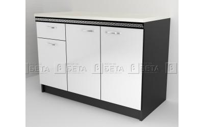 Модул Д3 - долен шкаф за кухня Версаче с три врати и чекмедже - 120 см.