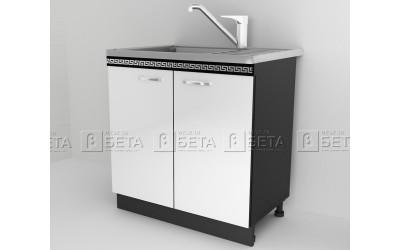 Модул Д2 - долен шкаф за бордова мивка за кухня Версаче - 80 см.