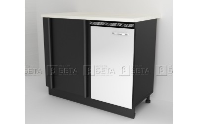 Модул Д7 - долен шкаф за ъгъл за кухня Версаче - 90 см.