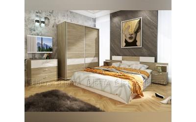 Спален комплект Сонома с LED осветление