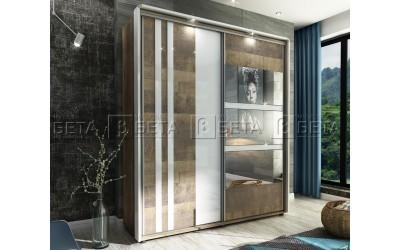 Двукрилен гардероб Арес с LED осветление
