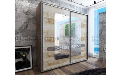 Двукрилен гардероб Форест с плъзгащи врати