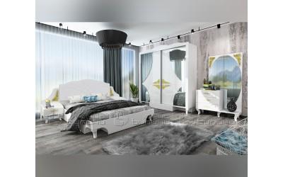 Спален комплект Белисима - Бяло гланц/Бяло - 160/200 см.