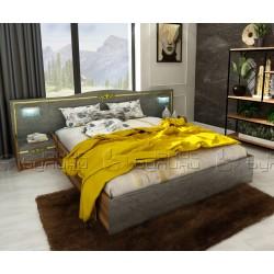 Спалня от спален комплект Оскар - Златен мрамор/ Барок - 160/200 см. - с LED осветление