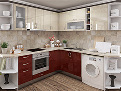 Кухненски шкафове Елит - Бордо гланц