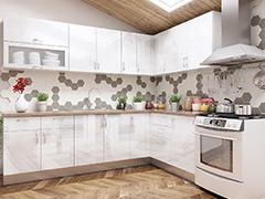 Кухненски шкафове Елит - Бял гланц