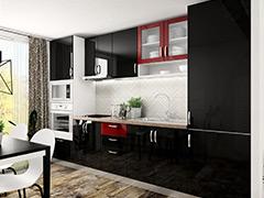 Кухненски шкафове Елит - Черен гланц