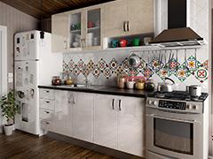 Кухненски шкафове Елит - Крем гланц