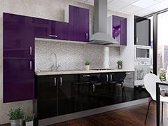 Кухненски шкафове Елит - Патладжан гланц