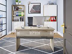 Модули за офис Гранд MDF - Бял гланц и Сонома Арвен 629