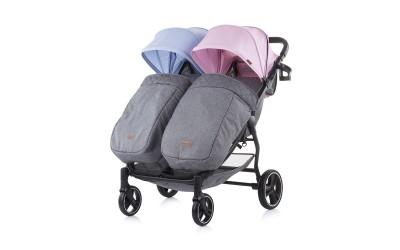 Детска количка за близнаци 2 Classy - синьо/розово - Chipolino