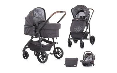 Комбинирана детска количка Адора - сива мъгла - Chipolino
