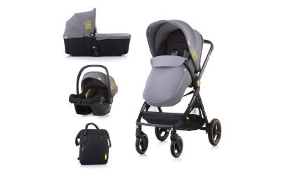 Комбинирана детска количка Елит 3 в 1 - асфалт - Chipolino
