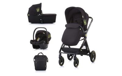 Комбинирана детска количка Елит 3 в 1 - карбон - Chipolino