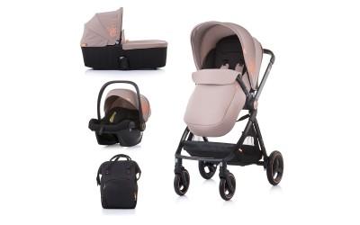 Комбинирана детска количка Елит 3 в 1 - лате - Chipolino