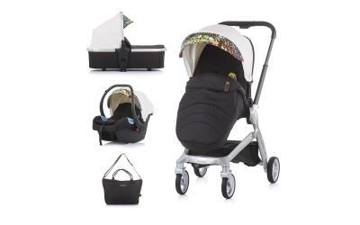 Комбинирана детска количка Emotion 3 в 1 - бяла/графити- Chipolino
