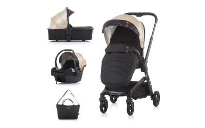 Комбинирана детска количка Emotion 3 в 1 - злато - Chipolino