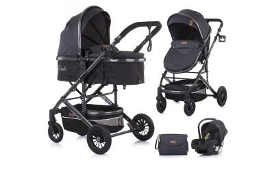Комбинирана детска количка Естел - асфалт - Chipolino
