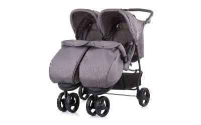 Детска количка за близнаци Макси Микс - асфалт - Chipolino