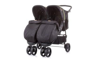 Детска количка за близнаци Макси Микс - карбон - Chipolino