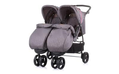 Детска количка за близнаци Макси Микс - син/розов - Chipolino