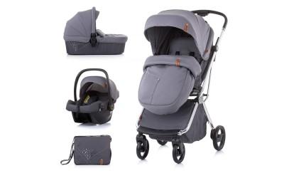 Комбинирана детска количка Пирует 3 в 1- асфалт - Chipolino