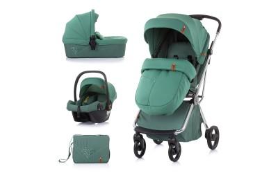 Комбинирана детска количка Пирует 3 в 1- бор - Chipolino