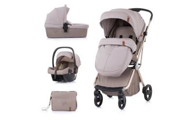 Комбинирана детска количка Пирует 3 в 1- лате - Chipolino