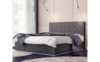 Тапицирана спалня Madrid - 120/200 в сива дамаска