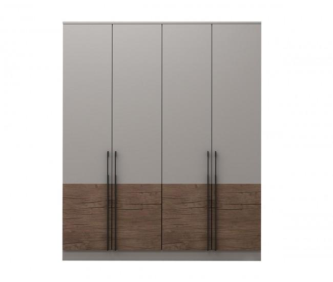Модулен гардероб Калифорния- Конфигурация 1 - Бяло гланц/Антик/Бяло - 180 см.
