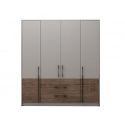 Модулен гардероб Калифорния- Конфигурация 2 - Бяло гланц/Антик/Бяло - 184 см.