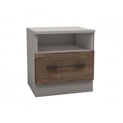 Нощно шкафче Калифорния МК11 - Антик/Бяло - 50 см.