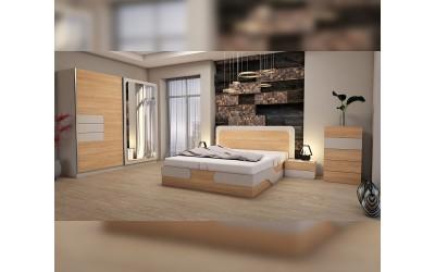 Спален комплект Каролина с LED оветление
