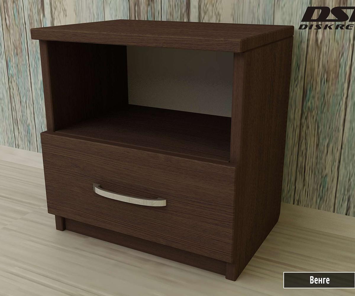 Нощно шкафче с чекмедже и рафт