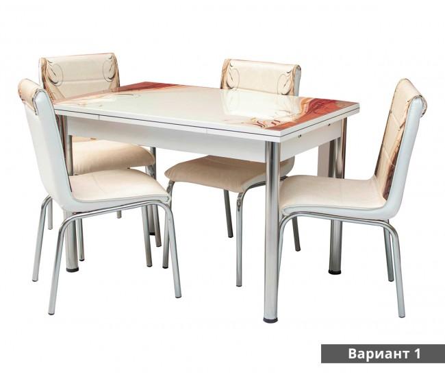 Комплект разтегателна трапезна маса с столове