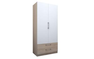 Двукрилен гардероб ЕД с чекмеджета - по проект