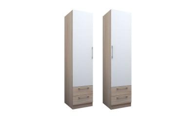 Еднокрилен гардероб ЕД с чекмеджета по проект - ляв/десен