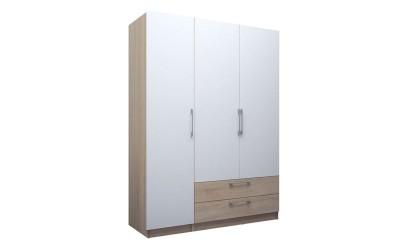 Трикрилен гардероб с чекмеджета ЕД - по проект - ляв/десен