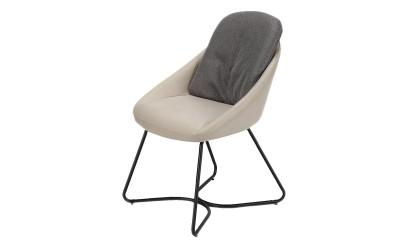 Трапезен стол К317 - крем/сив