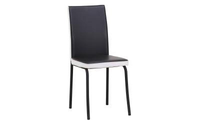 Комплект от 6 бр. трапезни столове К260 - черно/бял