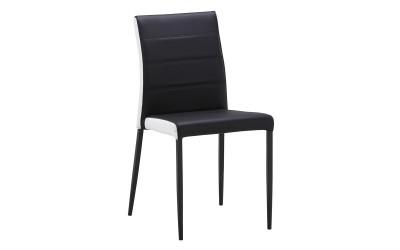 Комплект от 4 бр. трапезни столове К262 - черно/бял