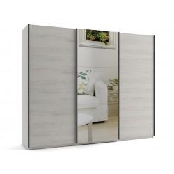 Голям гардероб с три плъзгащи врати и огледало МОД 10 - Бор Касина - 270 см.