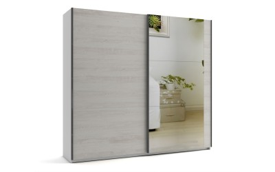 Среден гардероб с две плъзгащи врати и огледало МОД 8 - Бор Касина - 240 см.