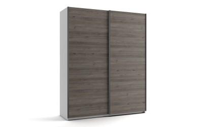Малък гардероб с две плъзгащи врати МОД 5 - Дъб Давос Трюфел - 180 см.